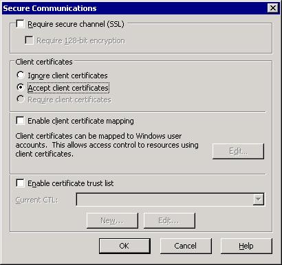 Accept client certificate