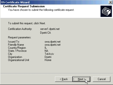 ssl certificate request