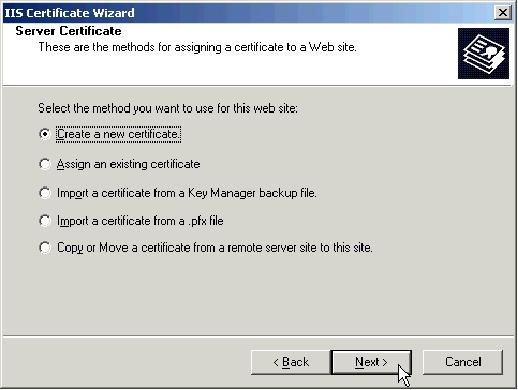 iis certificate